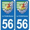 56 La Trinité-Surzur coat of arms sticker plate stickers city