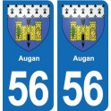 56 Augan blason autocollant plaque stickers ville