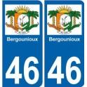 46 bergounioux logo sticker plaque immatriculation departement stickers city