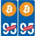 Bitcoin sticker autocollant plaque immatriculation auto sticker