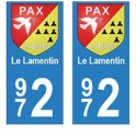 972 Le Lamentin autocollant plaque