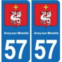 57 Ancy-sur-Moselle coat of arms sticker plate stickers city
