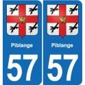 57 Marly blason autocollant plaque stickers ville