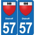 57 Distroff coat of arms sticker plate stickers city