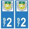 972 Schœlcher autocollant plaque