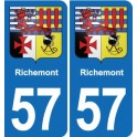 57 Richemont coat of arms sticker plate stickers city