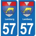 57 Lemberg coat of arms sticker plate stickers city