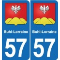 57 Buhl-Lorraine coat of arms sticker plate stickers city