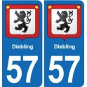 57 Diebling coat of arms sticker plate stickers city