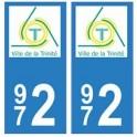 972 Trinité autocollant plaque