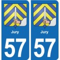 57 Marly blason autocollant plaque stickers ville