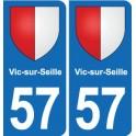 57 Vic-sur-Seille coat of arms sticker plate stickers city