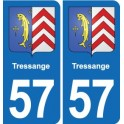 57 Tressange coat of arms sticker plate stickers city