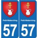 57 Petit-Réderching blason autocollant plaque stickers ville
