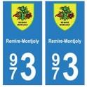 973 Remire-MontJoly autocollant plaque
