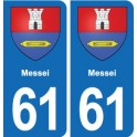 61 Messei coat of arms sticker plate stickers city
