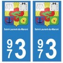 973 Saint-Laurent-du-Maroni autocollant plaque