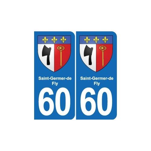 60 Senlis blason autocollant plaque stickers ville