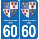 60 Saint-Aubin-en-Bray blason autocollant plaque stickers ville