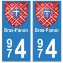974 Bras-Panon autocollant plaque