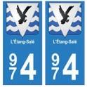 974 L'Etang-Salé autocollant plaque