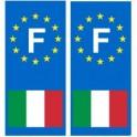 Italie F Autocollant