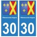 30 Villeneuve-lès-Avignon ville autocollant plaque stickers
