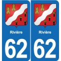 62 River coat of arms sticker plate stickers city