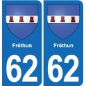 62 Frethun coat of arms sticker plate stickers city