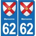 62 Carvin blason autocollant plaque stickers ville