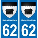 62 Maisnil-lès-Ruitz coat of arms sticker plate stickers city