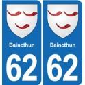 62 Baincthun coat of arms sticker plate stickers city