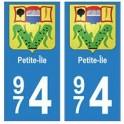 974 Petite-Île autocollant plaque