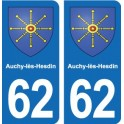 62 Auchy-lès-Hesdin coat of arms sticker plate stickers city
