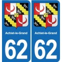 62 Achiet-le-Grand coat of arms sticker plate stickers city