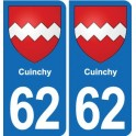 62 Cuinchy coat of arms sticker plate stickers city