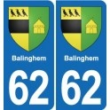 62 Balinghem coat of arms sticker plate stickers city