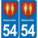 54 Badonviller coat of arms sticker plate stickers city