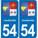 54 Joudreville coat of arms sticker plate stickers city