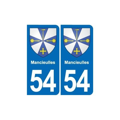 54 Malzéville blason autocollant plaque stickers ville