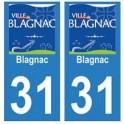 31 Blagnac ville autocollant plaque blason stickers