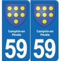 59 Camphin-en-Pévèle coat of arms sticker plate stickers city