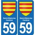 59 Saint-Hilaire-lez-Cambrai, france coat of arms decal plate sticker city