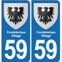 59 Comines blason autocollant plaque stickers ville
