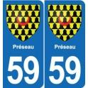 59 Préseau blason autocollant plaque stickers ville