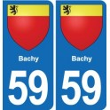 59 Bachy coat of arms sticker plate stickers city