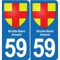 59 Bruille-Saint-Amand blason autocollant plaque stickers ville