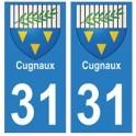 31 Cugnaux ville autocollant plaque blason stickers