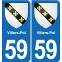 59 Villers-Pol coat of arms sticker plate stickers city