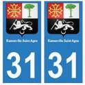 31 Ramonville-saint-agne ville autocollant plaque blason stickers